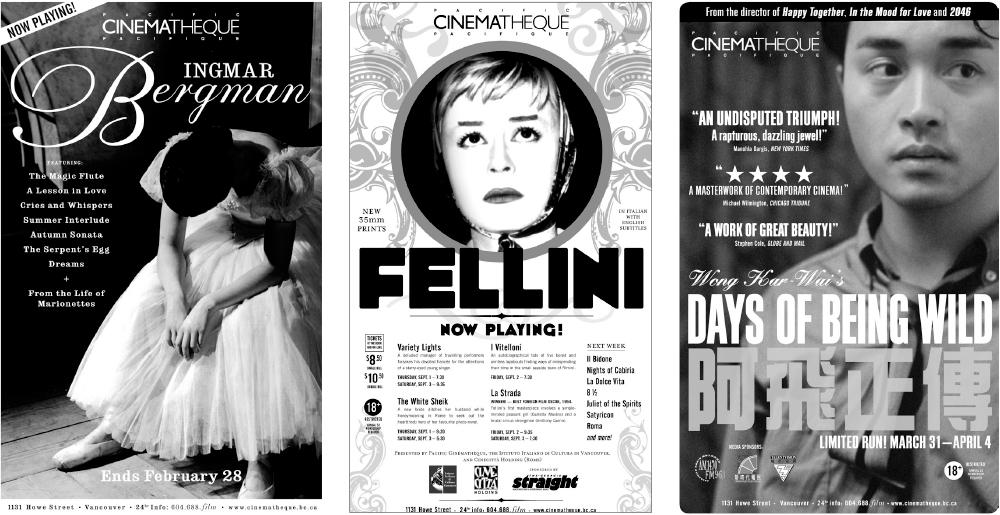 Ad slicks for The Cinematheque, circa 2005